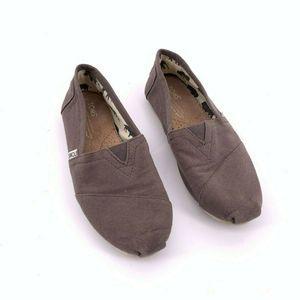 TOMS Womens Classic Alpargata Size 5.5 Gray